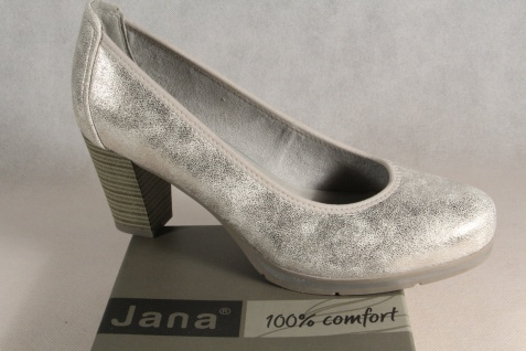 Jana Damen Pumps Slipper Ballerina Ballerina Ballerina weiss/silber Weite H NEU! 02cd35