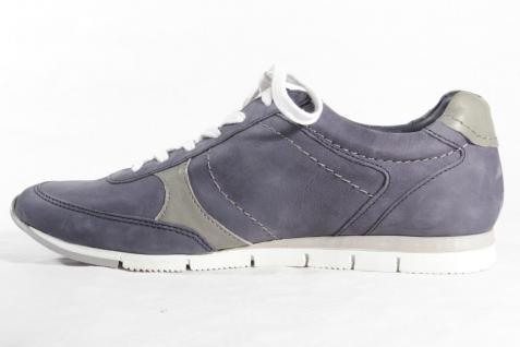 Bugatti Echtleder Damen Schnürschuhe Sneakers Halbschuhe Echtleder Bugatti blau 850212 NEU! a9a3da