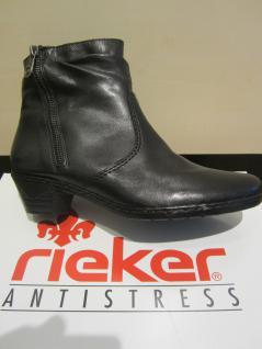 Rieker Stiefel, warm schwarz, Leder, warm Stiefel, gefüttert, 76960 NEU 69b646