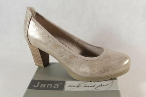 Jana Damen Pumps Soft Line Slipper Ballerina bronze Weite H NEU!