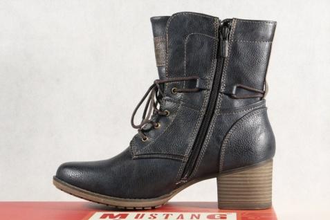 Mustang navy/ Stiefel Stiefeletten Schnürstiefel Stiefel navy/ Mustang blau 1197 NEU! ee392b