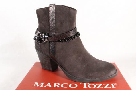 Marco Tozzi Stiefelette Stiefeletten 25370 Stiefel Leder cigar/braun NEU!
