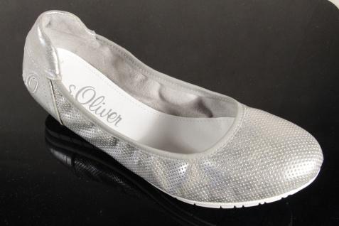 s.Oliver Slipper Ballerina Slipper s.Oliver Sneakers Pumps silber NEU!! 9f28d6