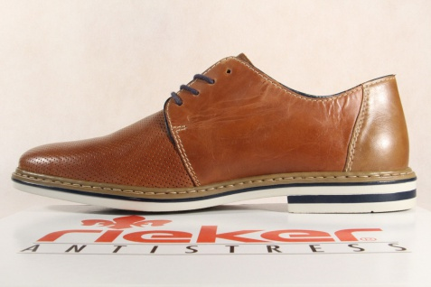 Rieker Herren Schnürschuhe, braun Halbschuhe B1428 Sneakers braun Schnürschuhe, Leder NEU! a0d484
