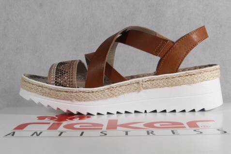 Rieker Damen Sandale Sandalette Sandalen braun V3263 NEU!! Beliebte Beliebte Beliebte Schuhe 8b988c