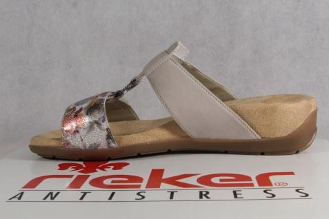 Rieker Pantoletten Pantolette Pantoffel grau/ multicolor 61596 NEU!