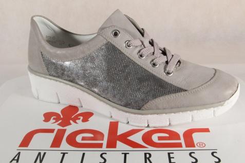 Rieker Damen Schnürschuhe, grau Halbschuhe, Sneakers, grau Schnürschuhe, 53720 NEU! f8734f