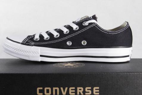 Converse All Star schwarz, Schnürschuh Sneaker schwarz, Star Textil/Leinen, Neu!!! fa3d17