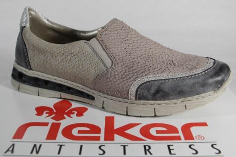 Rieker Slipper Sneakers Halbschuhe Leder/Kunstleder grau NEU!!