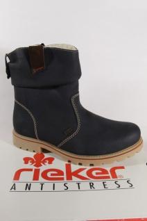Rieker Z1480 Tex Damen Stiefel NEU Stiefelette blau wasserdicht NEU Stiefel 0db378