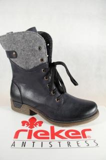 Rieker Damen Stiefel Stiefeletten Schnürstiefel Schuhe blau 79604 NEU! Beliebte Schuhe Schnürstiefel 52f121
