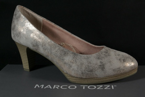 Marco Tozzi Damen Pumps Ballerina Slipper gold/ rose metallic NEU!