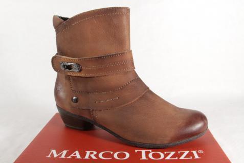 Marco Tozzi 25356 Echtleder Damen Stiefel Stiefeletten Stiefel Echtleder 25356 braun NEU! 391dbc