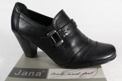 Jana Damen Pumps Slippers Ballerinas Leder schwarz Weite G NEU!