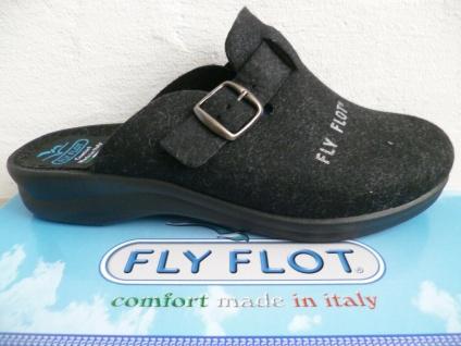 Fly Flot Damen Pantoffel Pantoffeln Hausschuhe schwarz Neu!