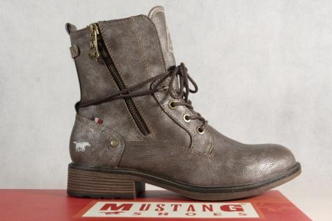 Mustang Stiefel braun Stiefeletten Schnürstiefel Stiefel braun Stiefel metallic 1264 NEU! 97d8e7