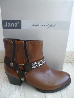 Jana Stiefelette, gefüttert braun, Weite H, leicht gefüttert Stiefelette, Echtleder 25328 NEU Beliebte Schuhe e0a5d8