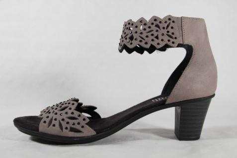 Rieker Sandaletten Damen Sandale Sandalette Sandalen Sandaletten Rieker grau Leder NEU!! e1b9e1