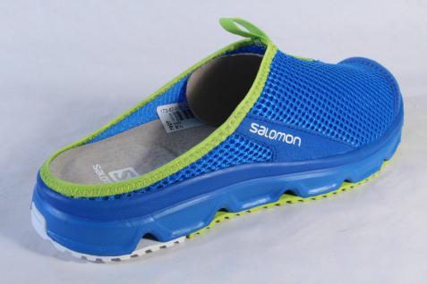 Salomon Clogs Pantoletten RX NEU Slide blau, Lederinnenfußbett 381605 NEU RX 84fc82