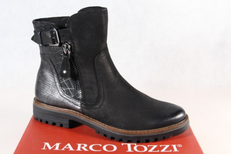 Marco Tozzi Damen Stiefelette Stiefel Winterstiefel Boots schwarz 25450 NEU!!