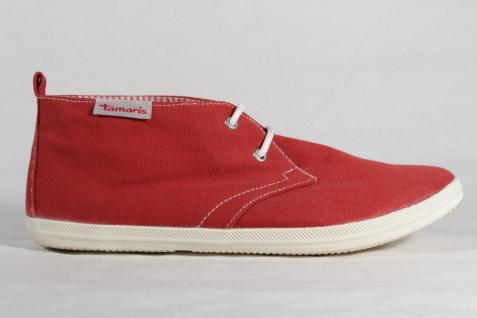 Damen rot Schnürschuhe, Halbschuhe, Sneaker, Stoff rot Damen NEU! a39545