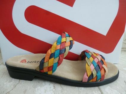 Berkemann Damen Pantolette Pantoletten Pantoffel Leder multicolor 02424 NEU!
