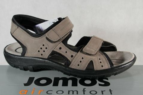 Jomos Herren Sandale Sandalen Sandalette Sandaletten Leder grau Weite H NEU!