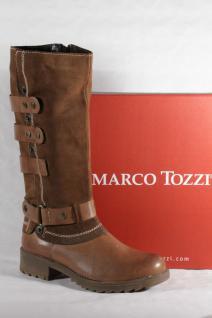 Marco Echtleder Tozzi Damen Stiefel braun Echtleder Marco Neu!!! 42b325