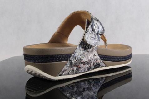 Rieker Pantoletten Damen Zehenstegpantolette Pantolette Sandale Pantoletten Rieker V1481 grau NEU! 196064