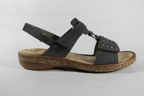 Rieker weiche Damen Sandalen Sandaletten grau, weiche Rieker Innensohle KV 62883 NEU!! 8532a1