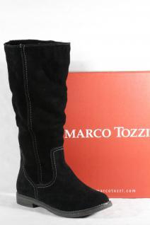 Marco Tozzi Damen Stiefel schwarz Echtleder, Velourleder Neu!!!