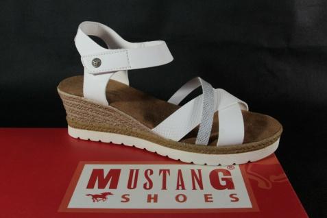 Mustang Damen Sandale Sandalette Sandalen weiß Neu!