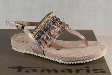 Tamaris Damen Zehenstegsandale Sandale Sandalette rose 28105 NEU!