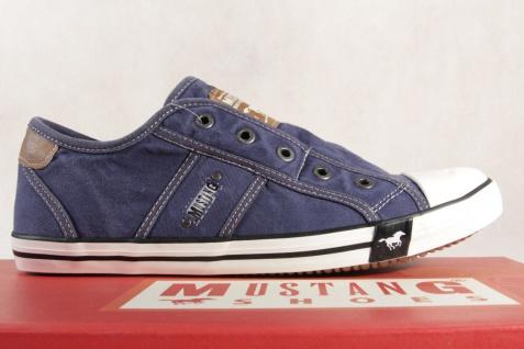 Mustang Slipper Sneakers Sportschuhe NEU Halbschuhe blau Leinen 1099 NEU Sportschuhe b72b80