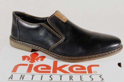 Rieker Slipper Sneakers Halbschuhe schwarz Leder 13462 NEU!!