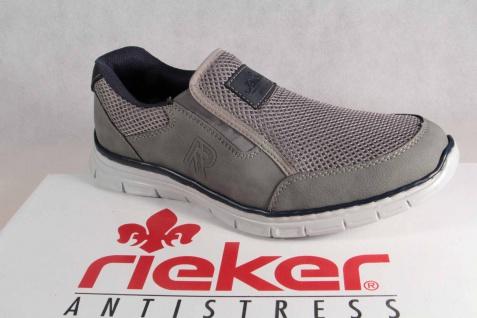 Rieker Halbschuhe Slipper Schnürschuhe Sneaker grau B4873 NEU!!