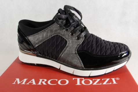 Marco Sneakers Tozzi Damen Schnürschuhe 23726 Sneakers Marco Halbschuhe schwarz NEU! fd599b