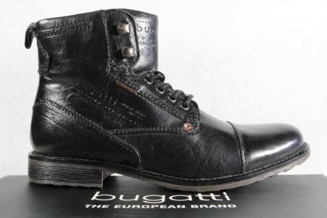 Bugatti Herren Stiefel schwarz Stiefel Schnürschuhe Schnürstiefel schwarz Stiefel Leder NEU!! faa2f3