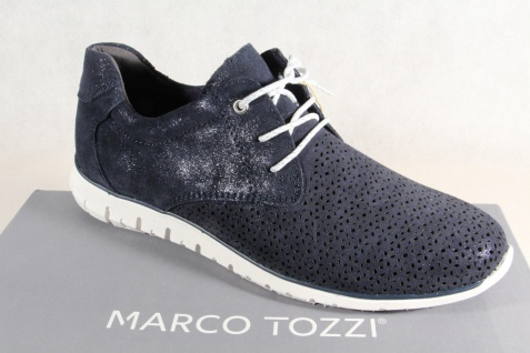 Marco Tozzi Damen Schnürschuhe 23728 NEU! Sneakers Halbschuhe navy Echtleder NEU! 23728 d7e976
