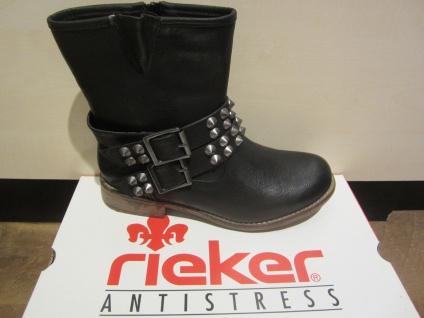 Rieker Stiefel, gefüttert, schwarz, kein Leder, warm gefüttert, Stiefel, NEU 6b5c77