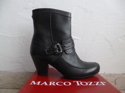 Marco Tozzi Echtleder Damen Stiefeletten Stiefelette schwarz Echtleder Tozzi NEU! d9481b