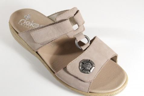 Rieker Sandale Pantolette Pantoletten Sandale Rieker Echtleder, beige V2379 NEU! bace68