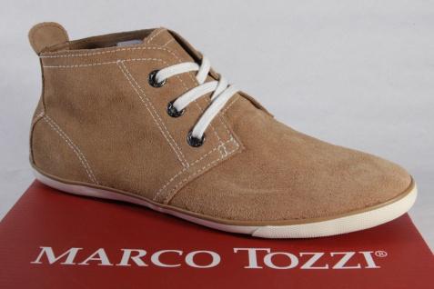 Marco Tozzi Sneaker Damen Schnürschuhe Halbschuhe Sneaker Tozzi Leder braun NEU 3f0428