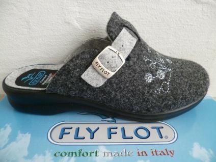 Fly Flot Damen Pantoffel Pantoffeln Pantoletten Hausschuhe grau Neu!!!