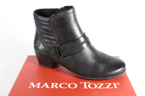 Marco Tozzi Stiefelette Reißverschluß, weiches Fußbett, gefüttert 25003 NEU!!