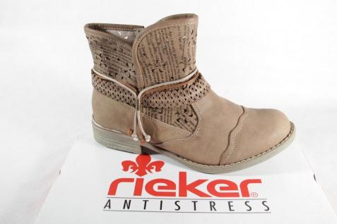 Rieker Stiefel Stiefelette Stiefeletten Boots beige NEU