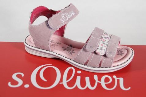 S.Oliver Mädchen weiß, Sandale rose/ weiß, Mädchen Lederinnensohle, flach NEU!! c20697