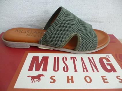 Mustang Pantolette Pantoletten Sandalen grün oliv 1388 Neu!