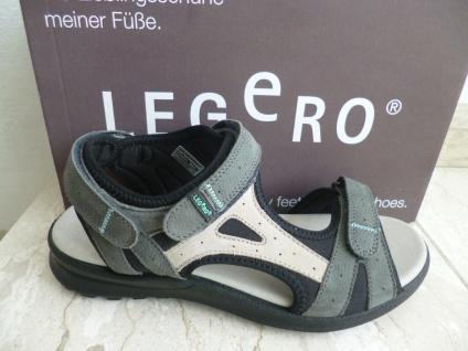 Legero Damen Sandalen Sandaletten NEU!! grau KV, bequemes Innenfußbett, NEU!! Sandaletten 71a2c1