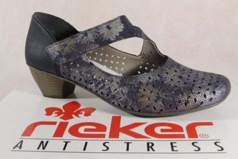 Rieker Damen Slipper blau, Pumps Ballerina blau, Slipper 41746 Neu!!! 70edfd